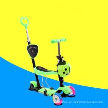 Hohe Qualität Großhandel Kinder 3 in 1 Roller mit Sitz