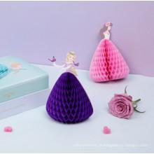 Cartões tridimensionais do vestido da princesa