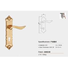 Golden Color Zinc Material Door Handle for Home Decoration