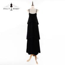 Nuevos vestidos de noche casuales elegantes hasta el suelo de algodón 100%