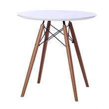 Table à manger ronde en MDF avec base en bois