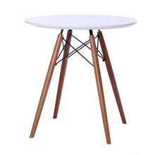 Round MDF top dining table wood base