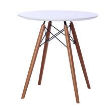 Деревянная основа обеденного стола с круглой столешницей из МДФ