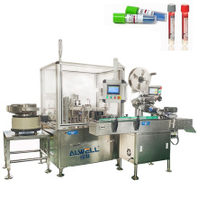 Shanghai ALWELL Automatic test tube strip filling capping labeling machine for 3ml /5ml