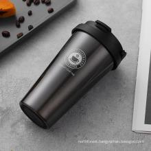 Waketm Wholesale Vacuum with Coffee Beer Wine Straw Water Bottles Hot Vibratory Stainless Steel Tumbler
