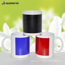 11 oz Sublimación taza blanca con cambio de color Patch sensible a la temperatura de impresión de recubrimiento