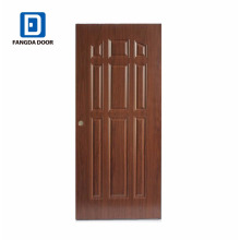 Fangda best price panel upvc external doors