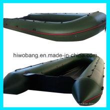 Exército do PVC de 0.9mm verde inflável aberto barco salva-vidas