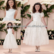 HF2026 Graceful 2014detachable lace short sleeve shawl pleated waist ball gown tulle zipper back two pieces girl dresses