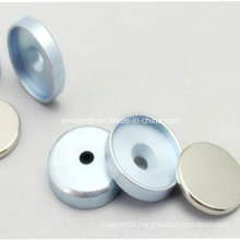 Nickel Neodymium Magnet in Zinc Metal Plate with Countersunk