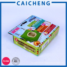 Toy corrugated paper packaging box with logo print