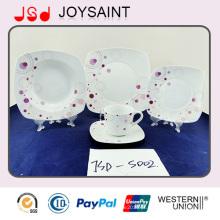 18 PCS China Fornecedor Porcelana Food Grade Uso Louça Cerâmica Dinner Set Placa