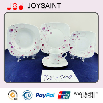 18 PCS China Supplier Porcelaine Food Grade Use Vaisselle Ceramic Dinner Sets Plate