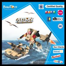 Oferta especial! Crianças produtos educativos militar barco iate plástico blocos de construção bloco de brinquedos