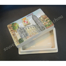 Square Ceramic Hand Painted Jewelry Box Souvenir Gift