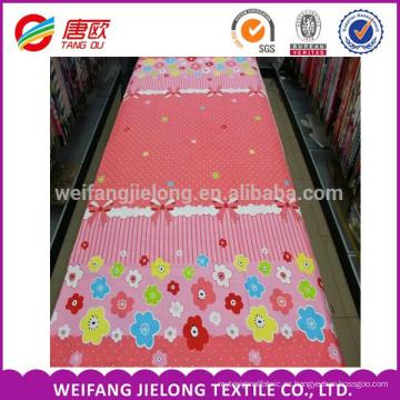Pajarita y flores de impresión barata 100% algodón ropa de cama