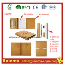 Eco Stationery with A5 Notepad and File Holder