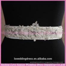 LB0002 Qualidade de tecido melhor feito à mão High end designer personalizado feito à mão com contas de noiva vestido de noiva