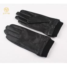 2014 best sale men plain style leather smart finger touch gloves