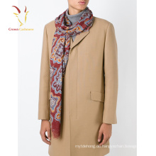 New Fashion 70% Pashmina 30% Seide Schal Printed Men Schal