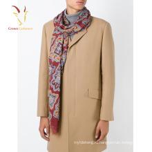 Новая мода 70% пашмина 30% шелковый шарф печатные мужчины шарф