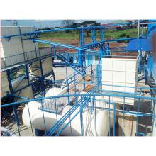 Condenseurs efficaces et protection de l'environnement déchets plastique / caoutchouc / pneu recyclage usine de distillation d'huile 25MT / D