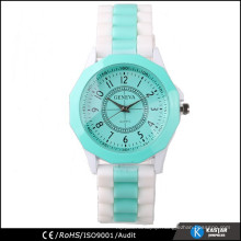 fancy quartz silicone band watch women