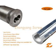 Bimetallische Schraube Barrel Twin Parallel Screw Zylinder