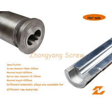 Bimetallic Screw Barrel Twin Parallel Screw Cylinder