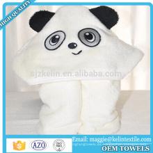 Toalla de baño encapuchada del bebé de la cara del animal doméstico del diseño de encargo de la toalla con capucha del bebé del bebé para el bebé