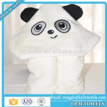 Serviette à capuchon de bébé de bambou de visage d'animal de conception faite sur commande Serviette de bain à capuchon de bébé de bébé fait sur commande