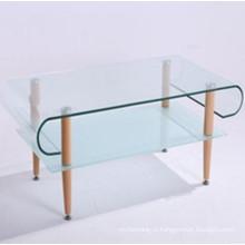 Изогнутый / изогнутый современный тип закаленное стекло для журнального столика
