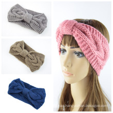 Bandeau fascia per capelli warm knitted Braid Knot sports headband ear protection headgear handmade Autumn Winter Hair Hand
