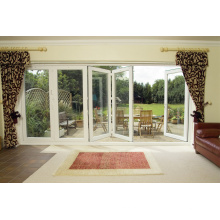 Woodwin Producto principal Puerta plegable de aluminio de doble vidrio templado
