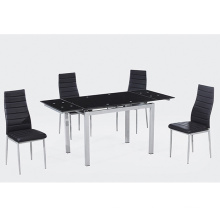 elegant black dining chairs leather dining chair black
