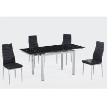 elegantes cadeiras de jantar pretas cadeira de jantar de couro preta