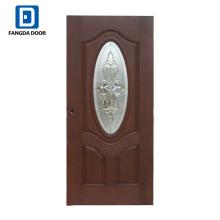 Fangda meilleur prix insertion de verre ovale pour la porte d'entrée