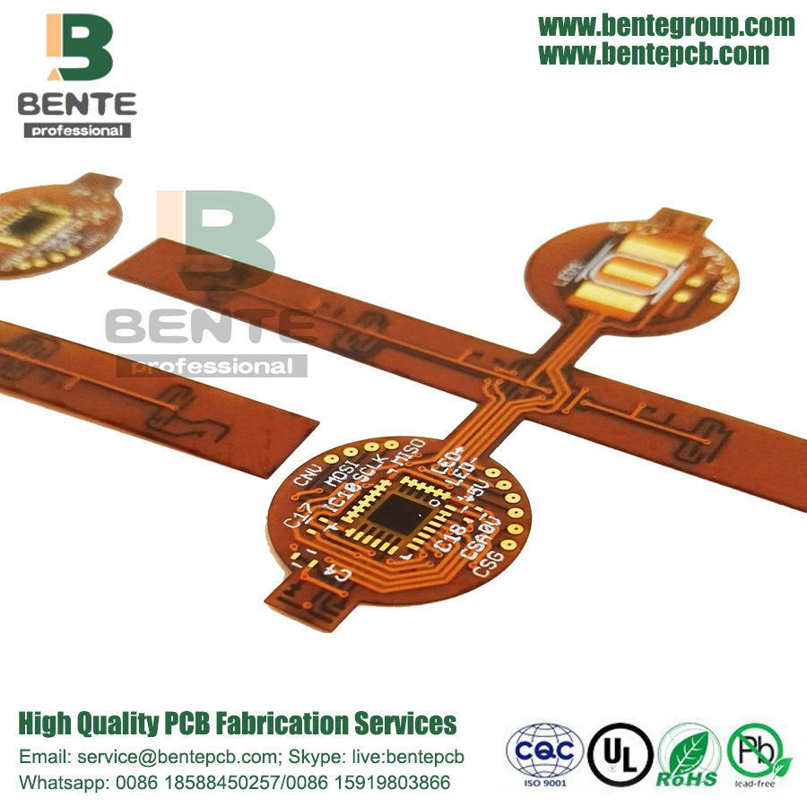 Industria 2 capas de PCB flexible de alta precisión