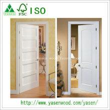 Porte en bois peinte blanche de conception de panneau populaire