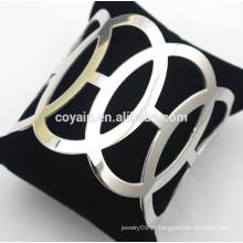 Fornecedor da jóia do aço inoxidável pulseiras de prata baratas da pulseira