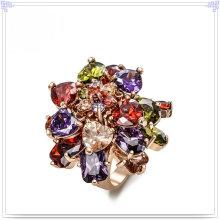 Joyería de moda joyería de cristal anillo de aleación (al0005rg)