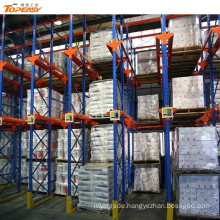 warehouse drive-in through rack shelf systems