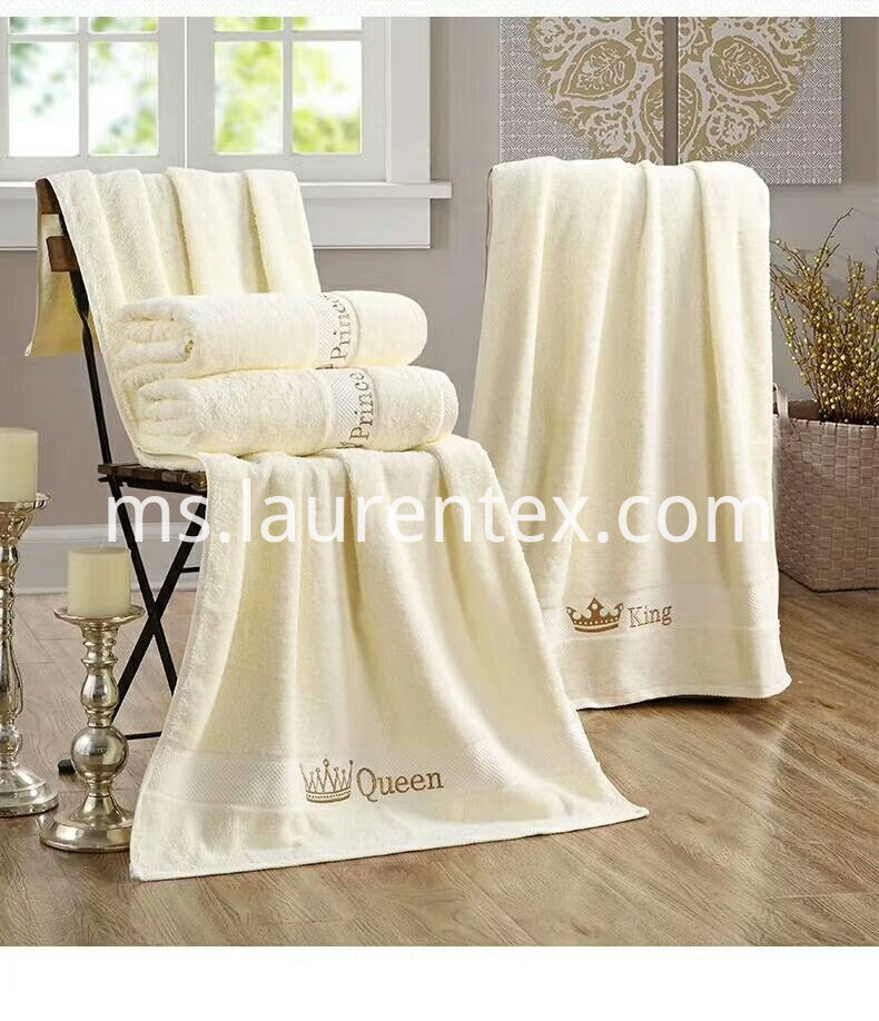 Crown series Cotton embroidered towel 6