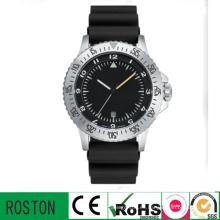 Reloj deportivo de banda plástica con movimiento de cuarzo