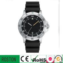 Relógio de desporto de banda de plástico com movimento de quartzo