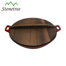 Wholesale Japanese Industrial Vegetable Oil Cast Iron Wok Set