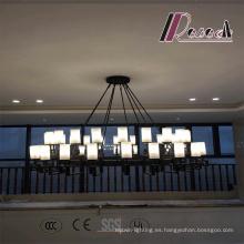Lámpara de techo moderna de vidrio negro mate para hotel