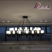 Modern Glass Black Matt Pendant Lamp for Hotel Project