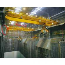 30t-35m Goliath Bridge Eot Crane with Garb Bucket for Workshop
