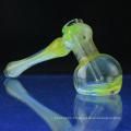 Bubbler en verre fumé pour fumer avec des points colorés (ES-HP-062)